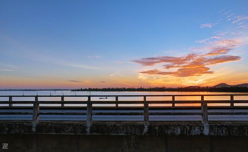 Sunrise over Tinsulanonda Bridge