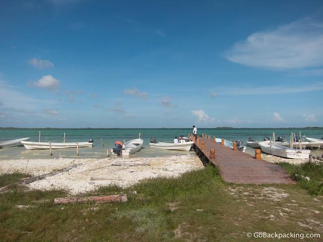 Boat dock in Sian Ka'an