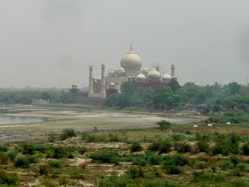 View of Taj Mahal from Agra Fort, India