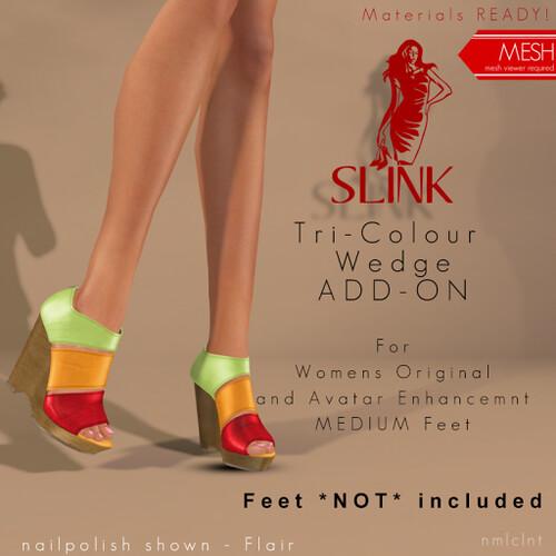 Slink - Tri Colour Wedges