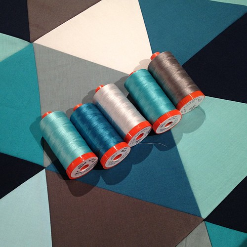 Couldn't decide on a color, so I guess I'll have to use all of them  @alexveronelli #aurifil