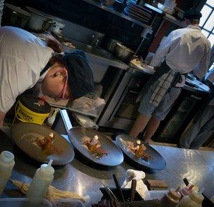 Preparing dessert