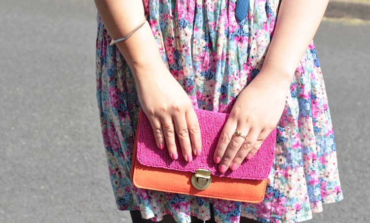 Floral Skirt and Bag