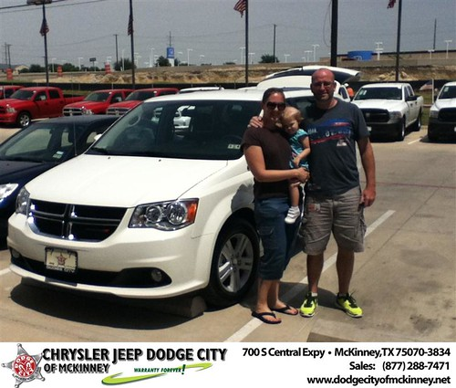 Thank you to Kirsten Grant on the 2013 Dodge Grand Caravan from Brent Villarreal and everyone at Dodge City of McKinney! by Dodge City McKinney Texas