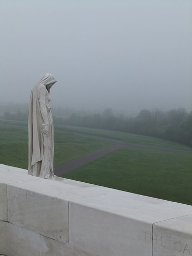 Vimy Ridge Memorial in the Fog