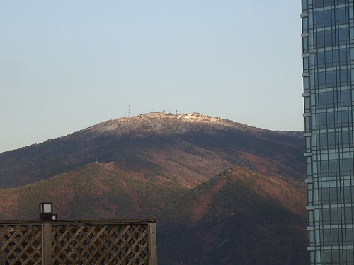 A little snow on Jangsan by Jens-Olaf