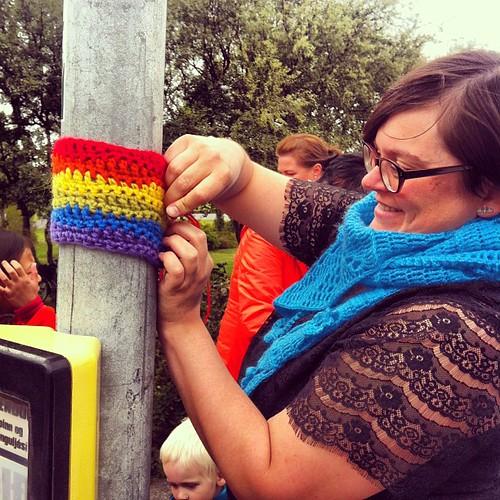 #gaypride #yarnbomb #yarnstorm #yarngraffiti #reykjavík #iceland