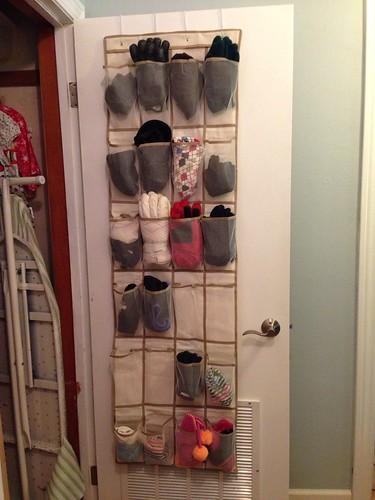 Hall closet after