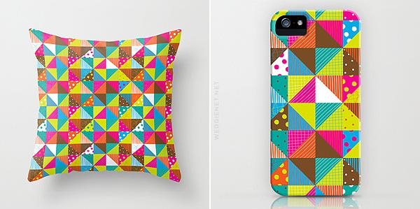 Crazy Squares pattern