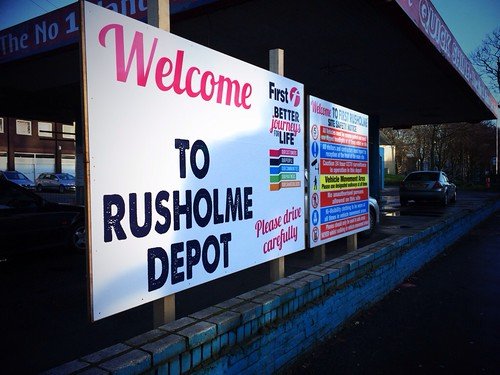 First Greater Manchester sign outside Rusholme.