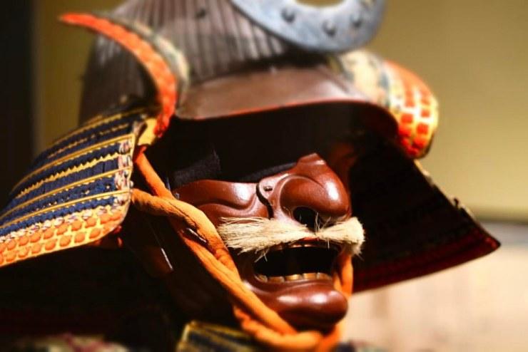 Samurai hjelm, på det asiatiske kunstmuseet. San Fransisco