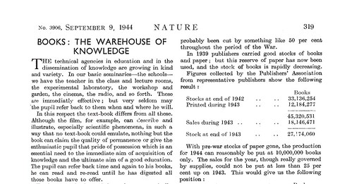 Books, The Warehouse of Knowledge (1944)