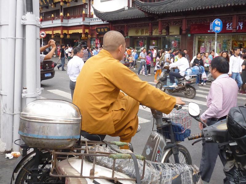 Probably fake monk at Yu Yuan