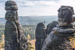 Klettern nahe der Barbarine