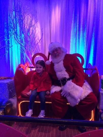 hanging with Santa