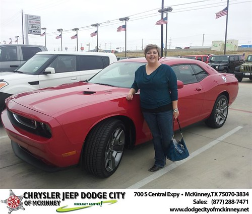 Happy Anniversary to Mandy K Bacco on your 2013 #Dodge #Challenger from Brent Villarreal  and everyone at Dodge City of McKinney! #Anniversary by Dodge City McKinney Texas