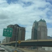 Downtown Orlando at rush hour