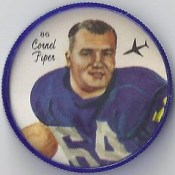 1964 Nalley's Potato Chips CFL Plastic Football Coin (type 1 back) - CORNEL PIPER #86-N (Winnipeg Blue Bombers / Canadian Football League) (trader)