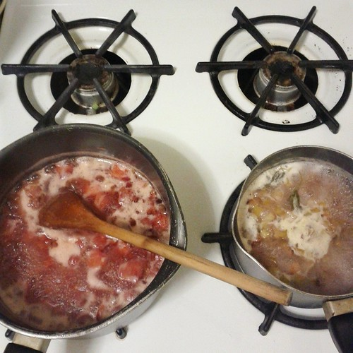 Strawberry Rhubarb Jam, Rhubarb Syrup