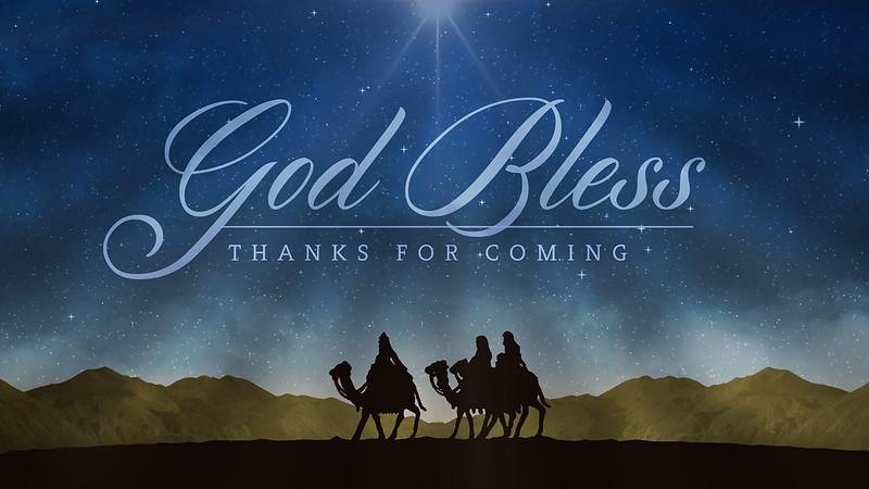 God Bless - Thanks For Coming