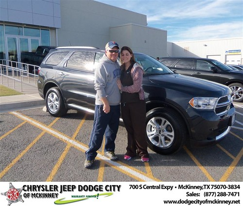 Happy Anniversary to Chastity Atchley on your 2013 #Dodge #Durango from David Campos  and everyone at Dodge City of McKinney! #Anniversary by Dodge City McKinney Texas