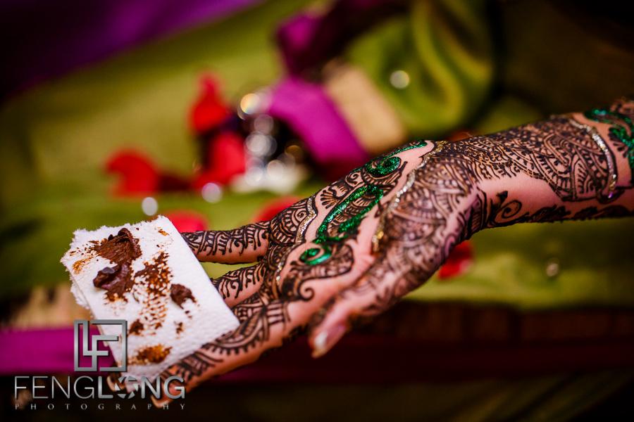 Bride's henna art