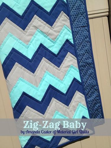 Zig-Zag Baby on fence