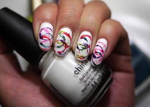 Nail Art using Straws~