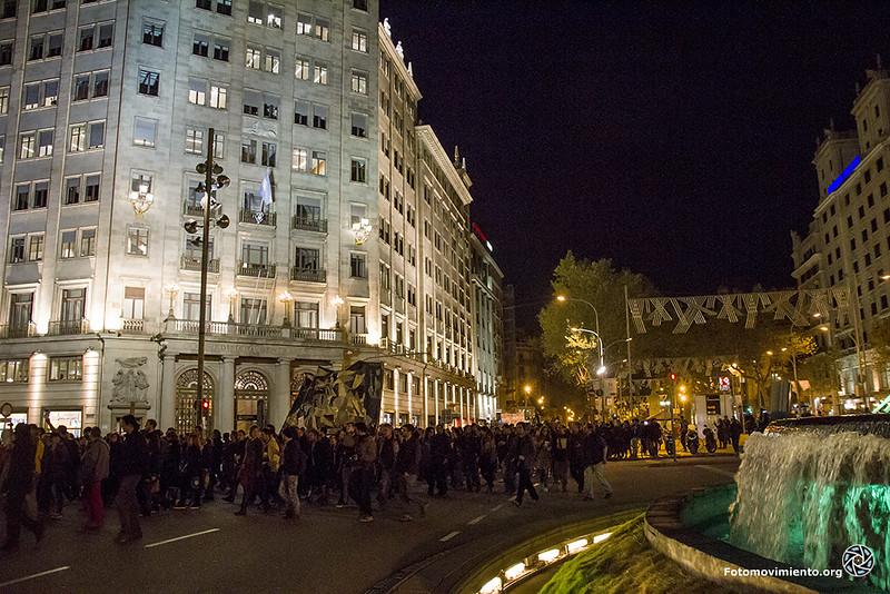 La manifestació en solidaritat amb Juan Andrés a Gran Via Foto: Fotomovimiento