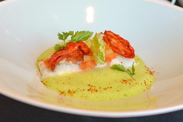 Sea Bream celery cream and clam jus