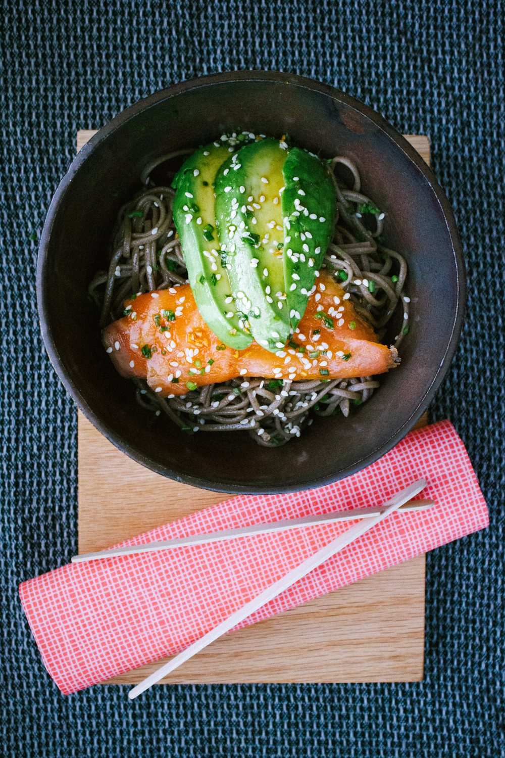 Soba Noodles with Smoked Salmon, Avocado and Mirin Dressing | Simple Provisions