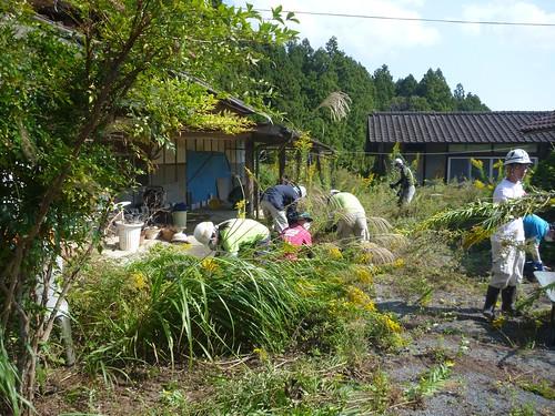 南相馬市小高区で家電搬出・草刈りのお手伝い(援人 1011便)