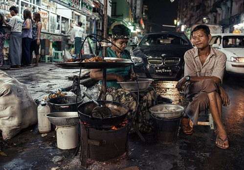 Juxtapose: the streets of Yangon by Christopher.Michel
