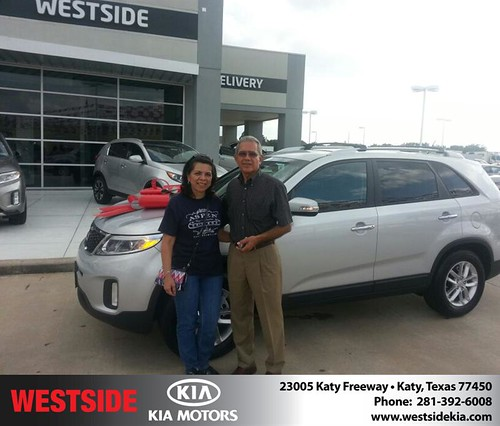 Thank you to Hortensia Valladares on your new 2014 #Kia #Sorento from Rubel Chowdhury and everyone at Westside Kia! #NewCarSmell by Westside KIA