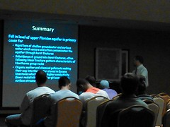 Summary: Fall in level of upper Floridan aquifer is primary cause for....