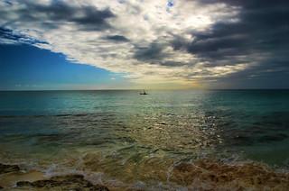 Distant Kayak at Cat Island
