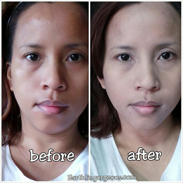 Holika Holika Small CD Face Pact before and after