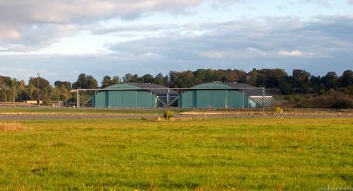Aircraft hangars Værløse airfield.