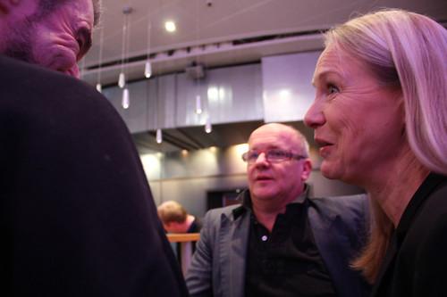 Nära samarbete. BIS records Robert von Bahr, dirigenten Christian Lindberg och SON:s vd Karin Veres ser fram emot Allan Petterssonprojektet som ska leda till en box med samtliga symfonier.