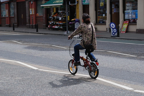 Brompton rider with style