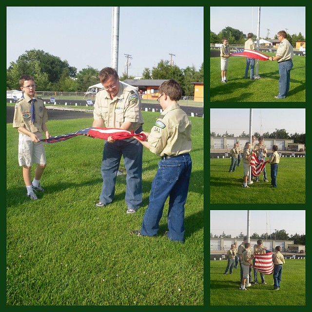 Flag Raising Collage