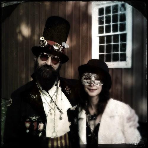 Professor Adam Smasher and I @ Steampunk City