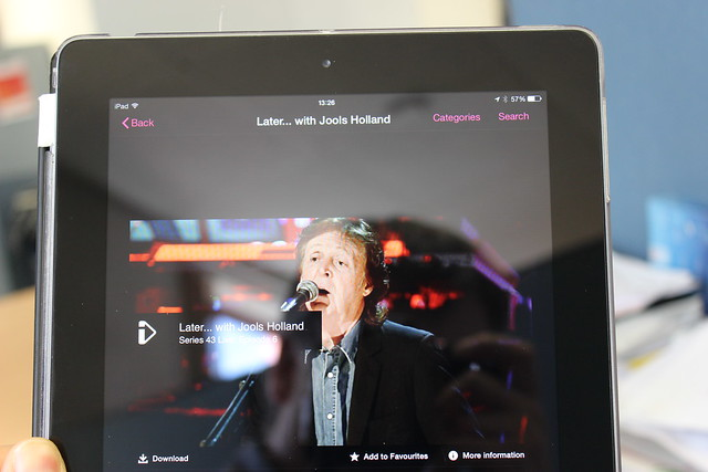 iPlayer on an iPad