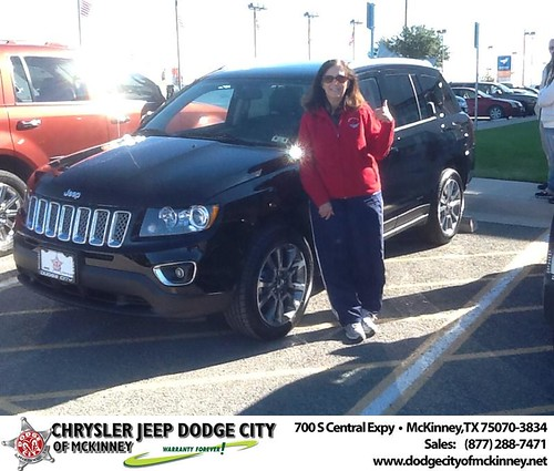 Thank you to Eva Lawson on your new 2014 #Jeep #Compass from Joe Ferguson  and everyone at Dodge City of McKinney! #NewCarSmell by Dodge City McKinney Texas