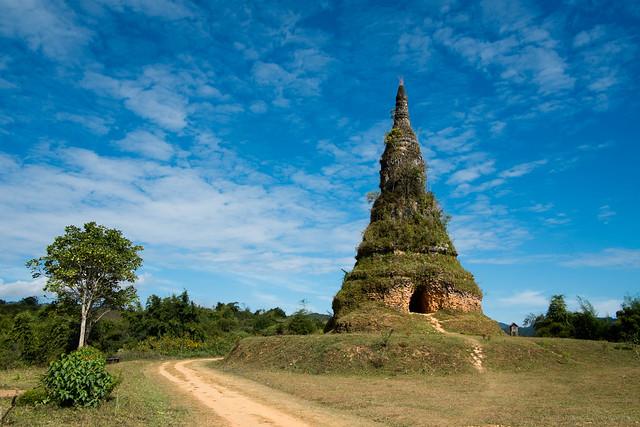 Ashes Stupa, Phon Savanh, Laos