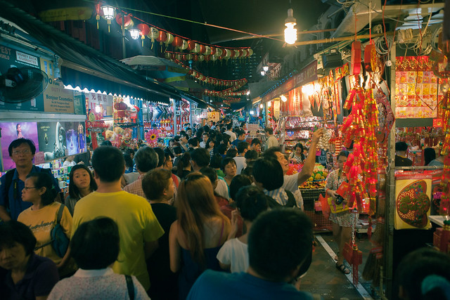 Night market on Temple street