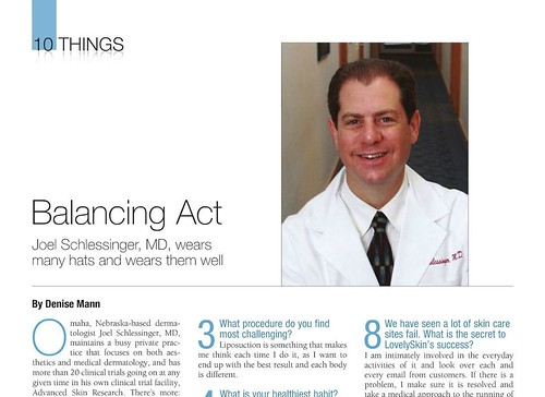 Dr. Joel Schlessinger recently featured in Plastic Surgery Practice