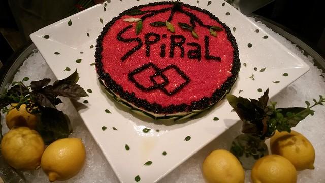 Spiral caviar pie