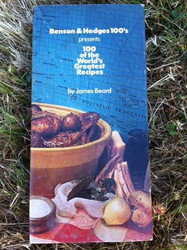 Benson & Hedges/James Beard cookbook