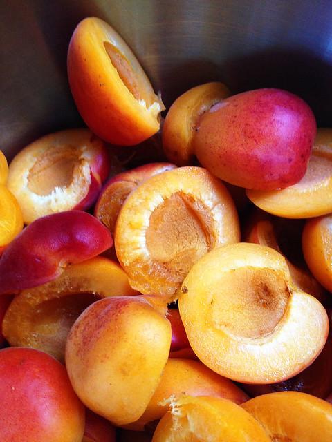 Halved Apricots